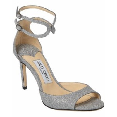 Jimmy Choo ジミーチュウ ファッション サンダル Jimmy Choo Lane 85 Glitter Sandal 36.5 Metallic