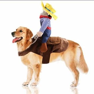 ペット猫カウボーイライダー犬コスチューム犬服騎士スタイル帽子付きお散歩(新古未使用品)