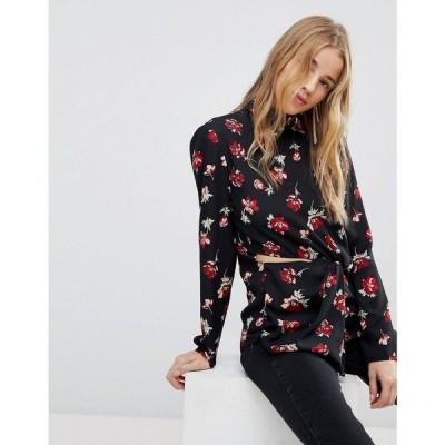 ミス セルフリッジ レディース ブラウス・シャツ トップス Miss Selfridge Floral Cut Out Blouse Multi