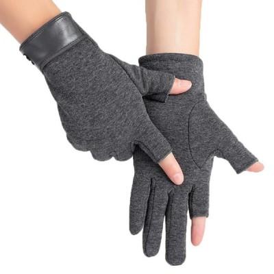 WHITE FANG(ホワイトファング) 手袋 グローブ 秋冬 防寒 おしゃれ 指なし レザー スマホ 対応 裏起毛 メンズ NT095 (