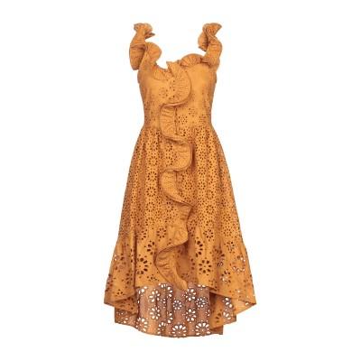 マヌーシュ MANOUSH ミニワンピース&ドレス ブラウン 38 コットン 100% ミニワンピース&ドレス