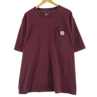 カーハート ワンポイントロゴポケットTシャツ XXL /eaa049313