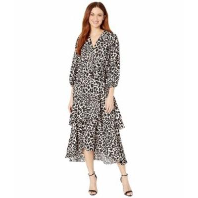 カルバンクライン レディース ワンピース トップス Animal Print Midi Dress Petal Multi