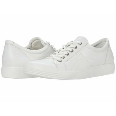 エコー スニーカー シューズ レディース Soft Classic Lace Sneaker White
