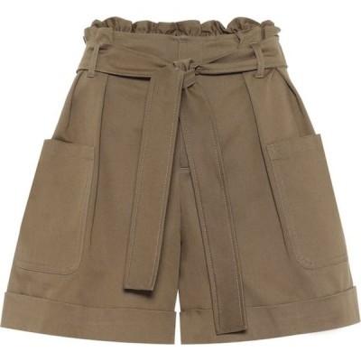 レッド ヴァレンティノ REDValentino レディース ショートパンツ ボトムス・パンツ stretch-cotton paperbag shorts Army