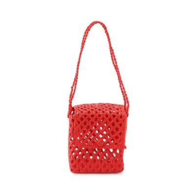 【アダムエロペ】 Cubic Straw Mini Bag (Bisou) レディース レッド M ADAM ET ROPE'