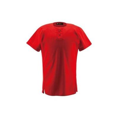 DESCENTE(デサント) ハーフボタンシャツ DB-1012 レッド XO