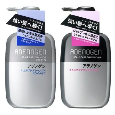 資生堂 アデノゲン ADENOGEN スカルプケアシャンプー ドライタイプ 400ml + スカルプケアコンディショナー 400ml 送料無料