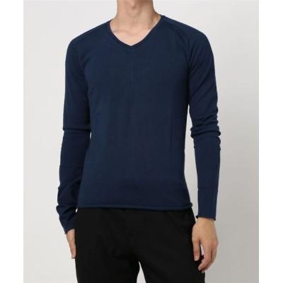 tシャツ Tシャツ [FOCUS / フォーカス] 長袖カットオフVネックカットソーTシャツ