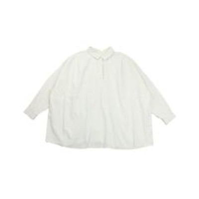 STOCK&INTELLIGENCEファヌル 後ろあきシャツ ワイドシャツ シャツプルオーバー FANEUIL F-6320407 2(M) オフホワイト(11)