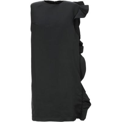.AMEN. ミニワンピース&ドレス ブラック 38 ポリエステル 100% ミニワンピース&ドレス