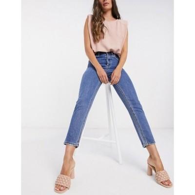 ヴェロモーダ レディース デニムパンツ ボトムス Vero Moda Joana mom jeans with high rise in blue