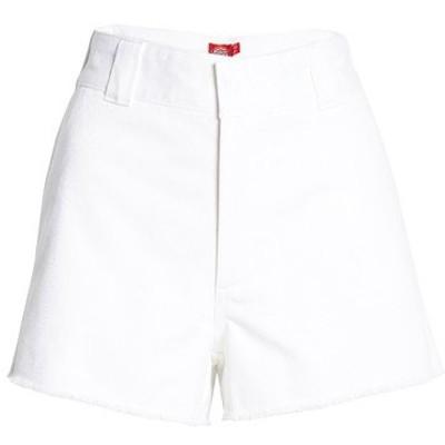 ディッキーズ カジュアルパンツ ボトムス レディース Frayed Cotton Blend Worker Shorts White
