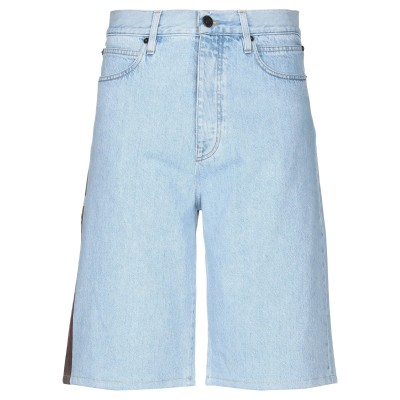 YOOX - CALVIN KLEIN JEANS デニムバミューダパンツ ブルー 30 コットン 100% デニムバミューダパンツ