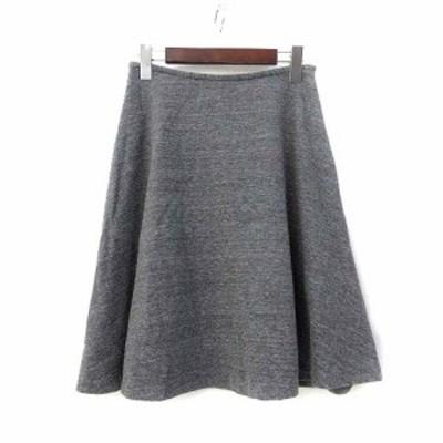 【中古】ロートレアモン LAUTREAMONT スカート 38 M グレー フレア ミニ 美品 レディース