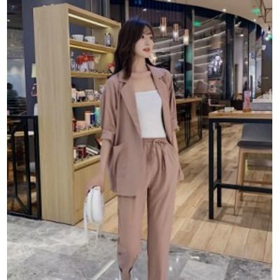 韓国ファッション レディース セットアップ 夏服 セットアップ レディース 上下セット 上下レディースセットアップ セットアップ
