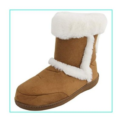 【新品】Home Slipper Tall Slipper Boots Women's Super Soft Cozy Slippers Anti-Slip House Indoor Booties Shoes,US 9/10,Metallic Brown(