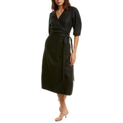 エキプモン レディース ワンピース トップス Equipment Frecia Linen Wrap Dress eclipse