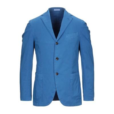 ボリオリ BOGLIOLI テーラードジャケット ブルー 46 コットン 86% / 麻 10% / ポリウレタン 4% テーラードジャケット