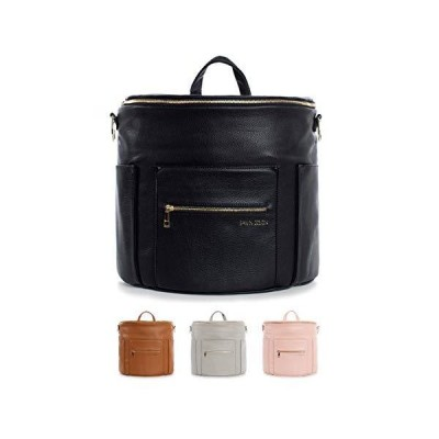 Fawn Design Premium Vegan Leather Diaper Bag and Backpack (Black 2.0)【並行輸入品】