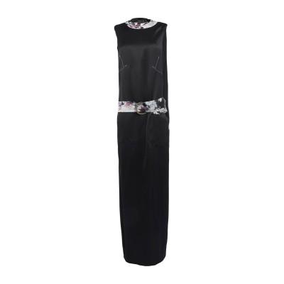 CALVIN KLEIN COLLECTION ロングワンピース&ドレス ブラック 38 レーヨン 100% ロングワンピース&ドレス