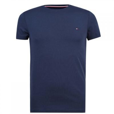 トミー ヒルフィガー Tommy Hilfiger メンズ Tシャツ トップス Stretch Slim Fit T-Shirt Blue