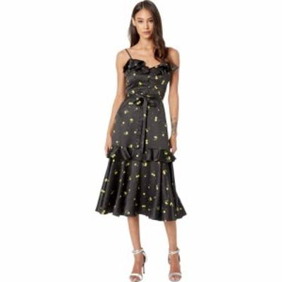 ミリー Milly レディース ワンピース ワンピース・ドレス Cherry Print on Stretch Satin Petal Dress Black Multi