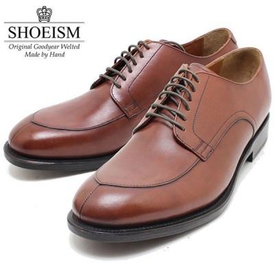 SHOEISM シューイズム 112 6アイレット Vチップ スプリットトゥ BROWN ビジネス/ドレス/紐靴/革靴/メンズ