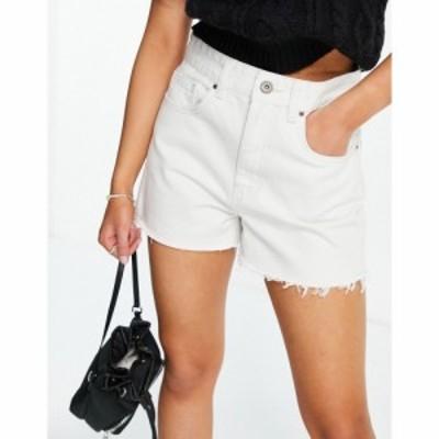 コットンオン Cotton:On レディース ショートパンツ ボトムス・パンツ High Waisted Mom Short With Frayed Hem In White