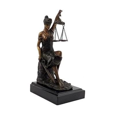 Bey-Berk International 8H in. Lady Justice on Marble輸入品