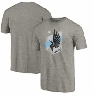 Fanatics Branded ファナティクス ブランド スポーツ用品  Fanatics Branded Minnesota United FC Gray Distressed Primary Logo Tri-Ble