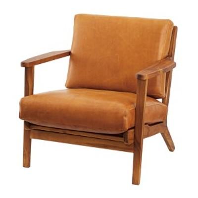 ソファ 1人掛 幅69cm ソファー 肘掛け 木製フレーム 合皮 本革 ( リビングソファ 椅子 チェアー イス チェア 肘付き 1P 一人掛け ウッド