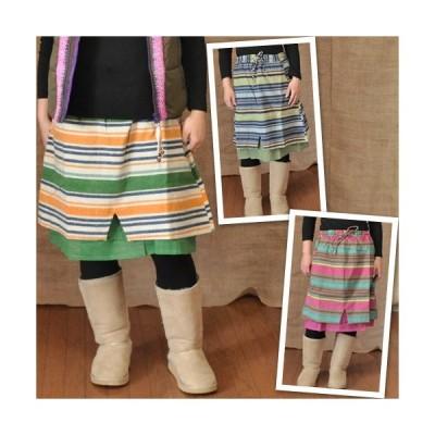 カラーボーダースカート アジアンファッション・エスニックファッション・ハンディクラフト巧・GANESH・縞々・しましま・シマシマ