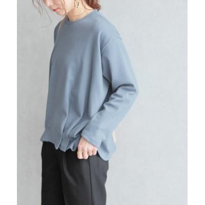 【レカ】 裾タックカットソー レディース ブルー FREE reca