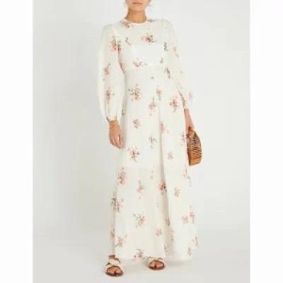 ジマーマン ワンピース heathers floral-print linen maxi dress Floating bouquet