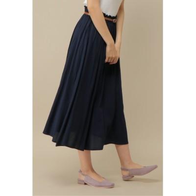 (ikka/イッカ)ベルト付きスカート/レディース ネイビー
