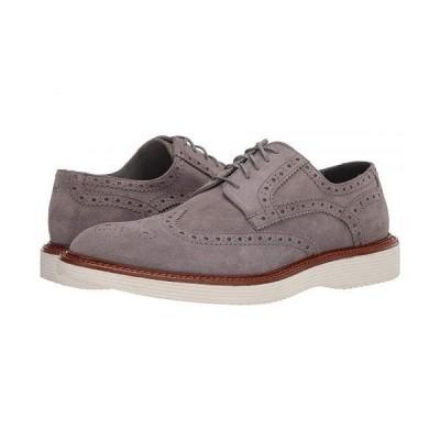 Trask トラスク メンズ 男性用 シューズ 靴 オックスフォード 紳士靴 通勤靴 Rogan - Light Gray Itlalian Suede