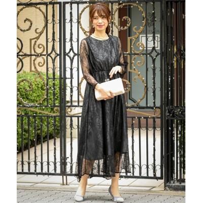 【結婚式・お呼ばれ・二次会】配色総レースワンピースドレス<大きいサイズ有> ,スマイルランド, 【謝恩会・パーティドレス】Dress