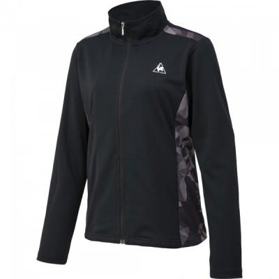 ルコック テニス シャツジャケット レディース QTWRJK01-BLK