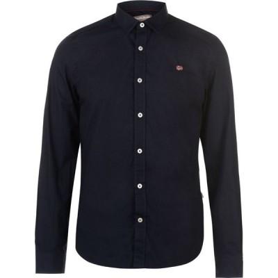 ナパピリ Napapijri メンズ シャツ トップス Long Sleeve Shirt Blue