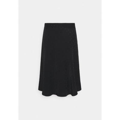 マッズ ノーガード スカート レディース ボトムス DRAPY STELLY  - A-line skirt - black
