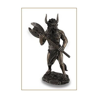 Veronese Design Bronze Finished Minotaur with Labrys Statue Greek Mythology【並行輸入品】