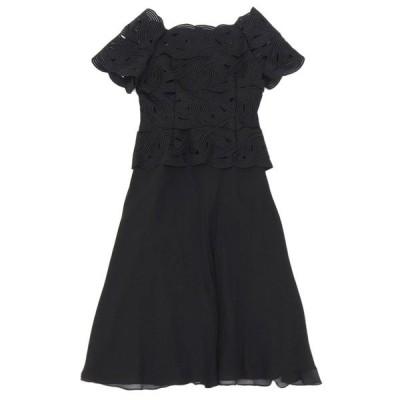 ロベルトカプチ ROBERTO CAPUCCI シルク ロング ドレス ブラック size9AR A04214