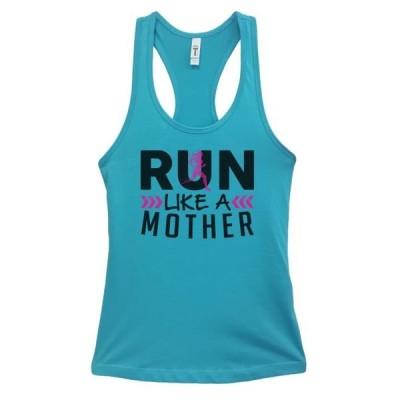 レディース 衣類 トップス Womens Basic Tank Top Run Like A Mother Funny Running Shirt Funny Threadz Small Sky Blue Tシャツ