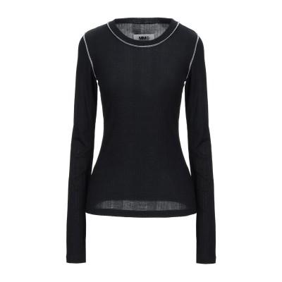 MM6 メゾン マルジェラ MM6 MAISON MARGIELA T シャツ ブラック XS テンセル 96% / ポリウレタン 4% T シャツ