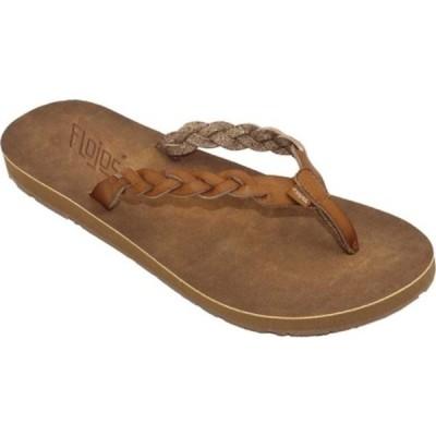 フロホース サンダル シューズ レディース Navida Braided Thong Sandal (Women's) Tan Faux Leather
