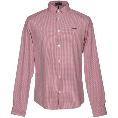 アルマーニ ジーンズ ARMANI JEANS シャツ レッド XL コットン 100% シャツ