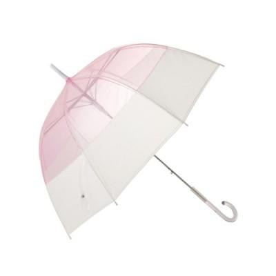 傘 【雨傘】プリュイ バイカラー ビニール傘 58cm ピンク