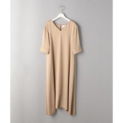 ドレス BY DRESS サテンAライン5分袖ドレス