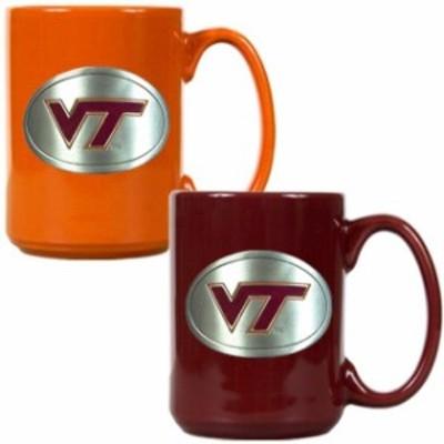 Great American Products ゲット アメリカン プロダクツ スポーツ用品  Virginia Tech Hokies 15oz. Coffee Mug Set